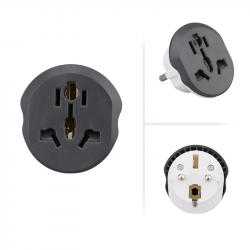 CN US UK to EU plug adapter